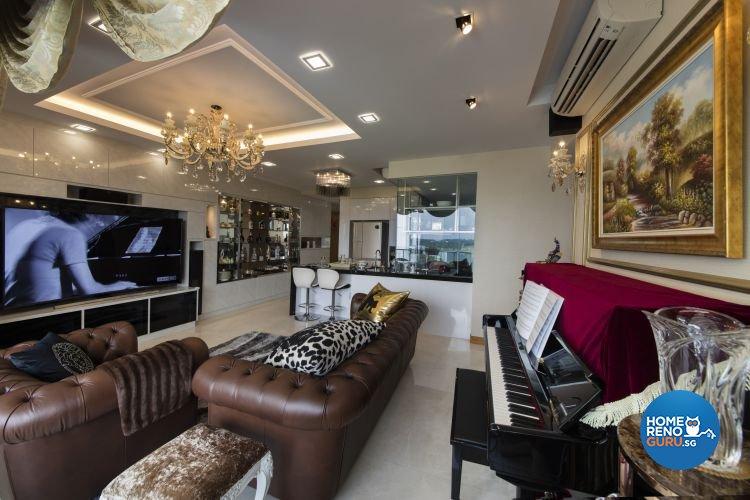 Classical, Modern Design - Living Room - Condominium - Design by Design 4 Space Pte Ltd