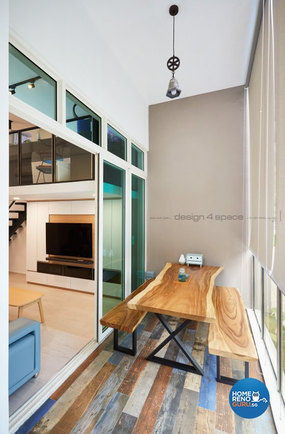 Contemporary, Modern Design - Balcony - Condominium - Design by Design 4 Space Pte Ltd