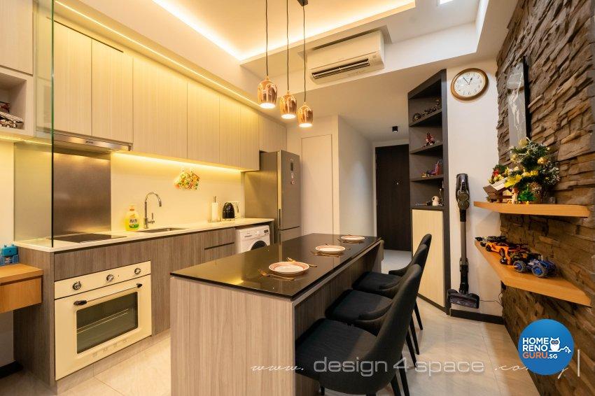 Contemporary, Modern Design - Kitchen - Condominium - Design by Design 4 Space Pte Ltd