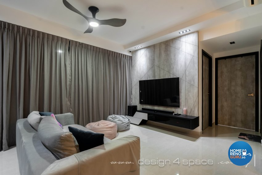 Contemporary Design - Living Room - Condominium - Design by Design 4 Space Pte Ltd