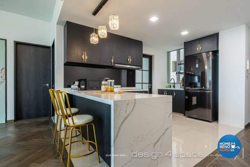 Classical, Oriental Design - Kitchen - Condominium - Design by Design 4 Space Pte Ltd