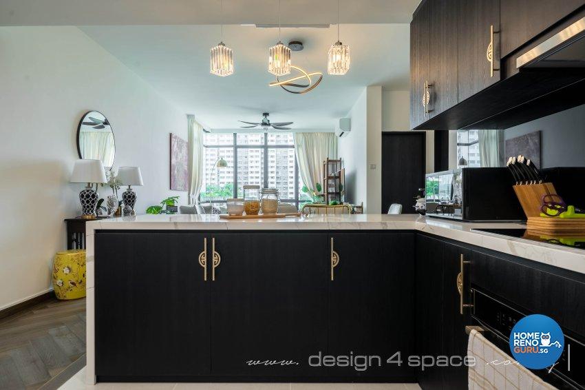 Classical, Oriental Design - Kitchen - Condominium - Design by Design 4 Space Pte Ltd