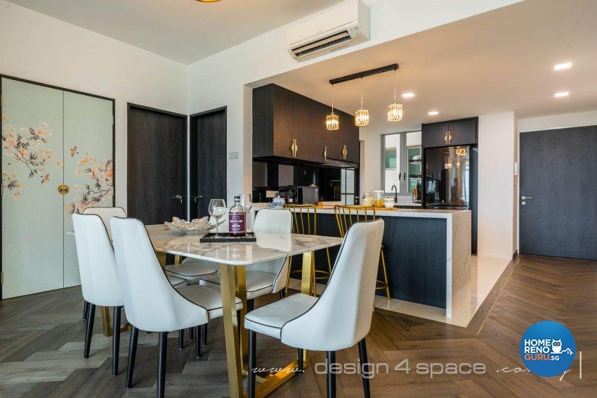 Classical, Oriental Design - Dining Room - Condominium - Design by Design 4 Space Pte Ltd