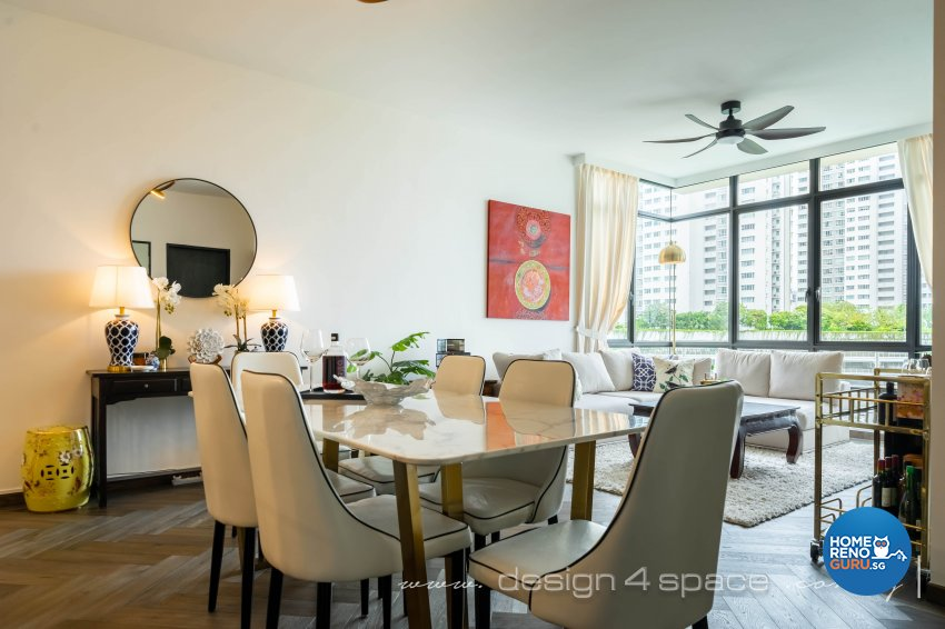 Classical, Oriental Design - Dining Room - Condominium - Design by Design 4 Space Pte Ltd
