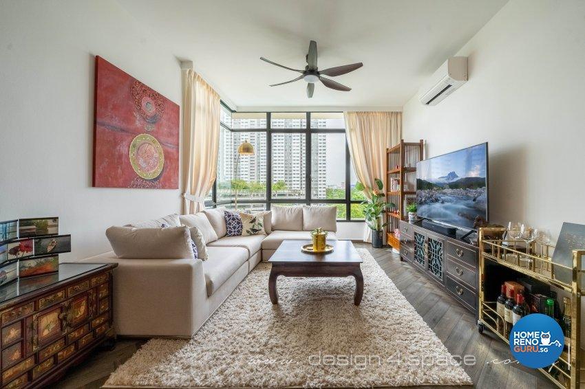 Classical, Oriental Design - Living Room - Condominium - Design by Design 4 Space Pte Ltd