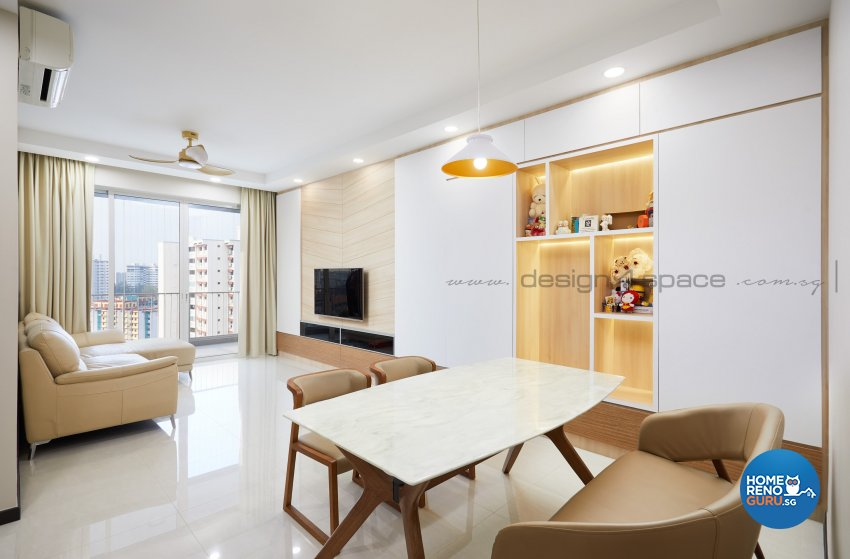 Minimalist Design - Living Room - Condominium - Design by Design 4 Space Pte Ltd
