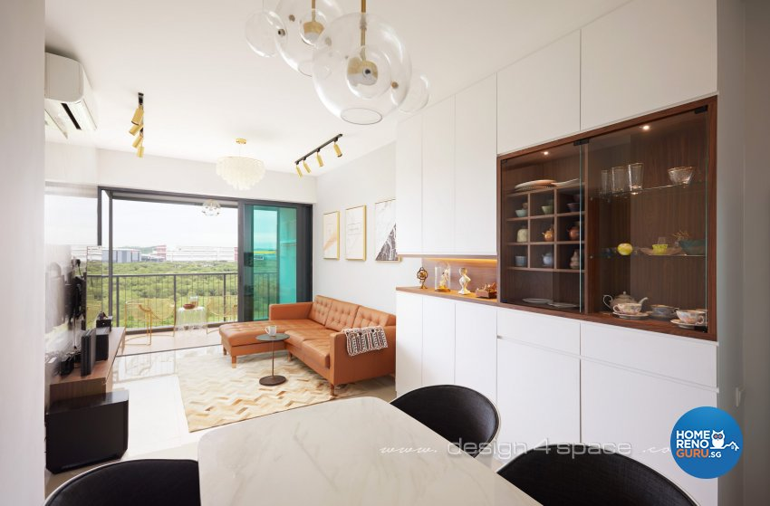 Contemporary, Minimalist Design - Living Room - Condominium - Design by Design 4 Space Pte Ltd