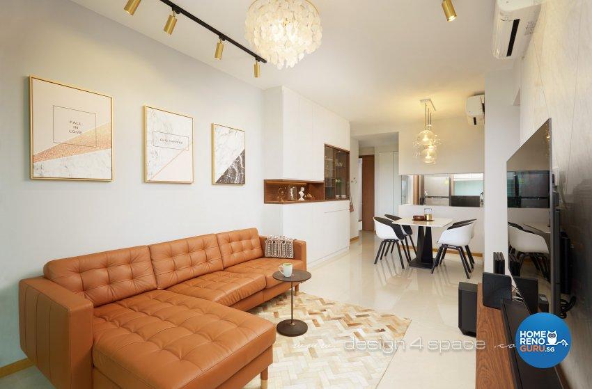 Contemporary, Minimalist Design - Living Room - Condominium - Design by Design 4 Space Pte Ltd