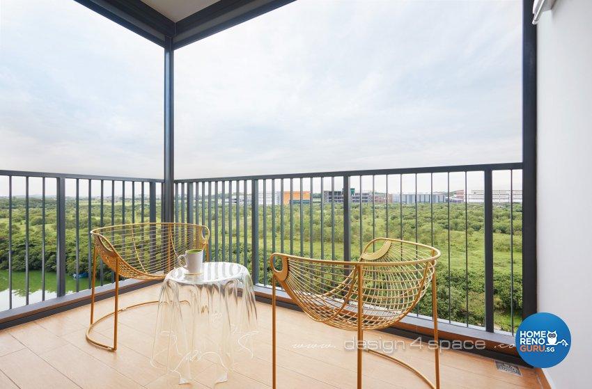 Contemporary, Minimalist Design - Balcony - Condominium - Design by Design 4 Space Pte Ltd