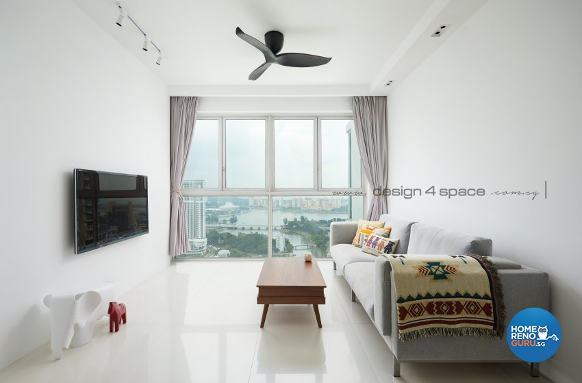 Contemporary, Scandinavian Design - Living Room - Condominium - Design by Design 4 Space Pte Ltd