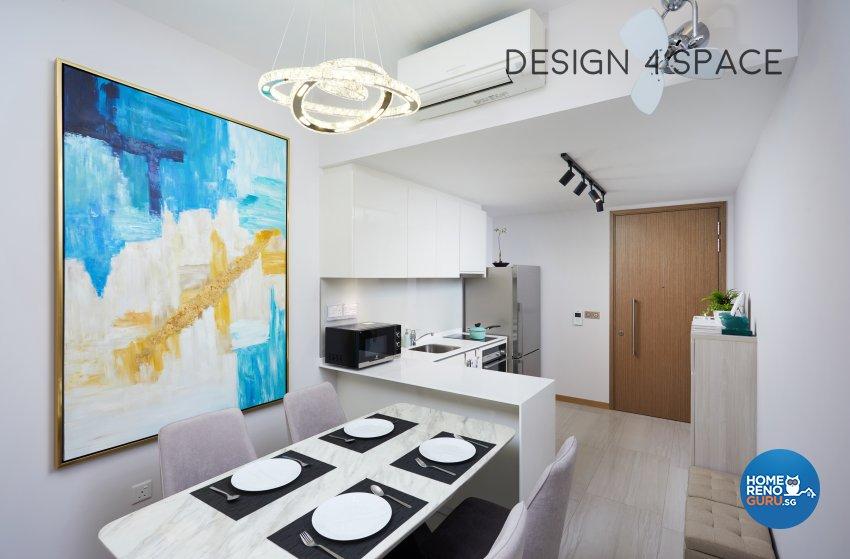 Contemporary, Minimalist, Modern Design - Dining Room - Condominium - Design by Design 4 Space Pte Ltd