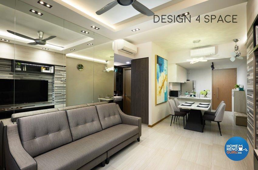 Contemporary, Minimalist, Modern Design - Living Room - Condominium - Design by Design 4 Space Pte Ltd