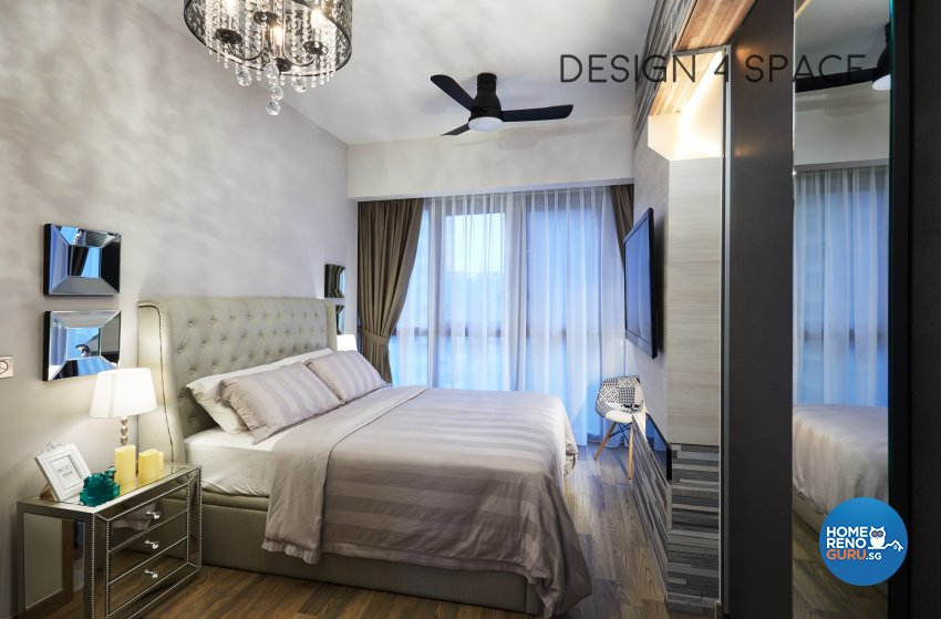 Contemporary, Minimalist, Modern Design - Bedroom - Condominium - Design by Design 4 Space Pte Ltd