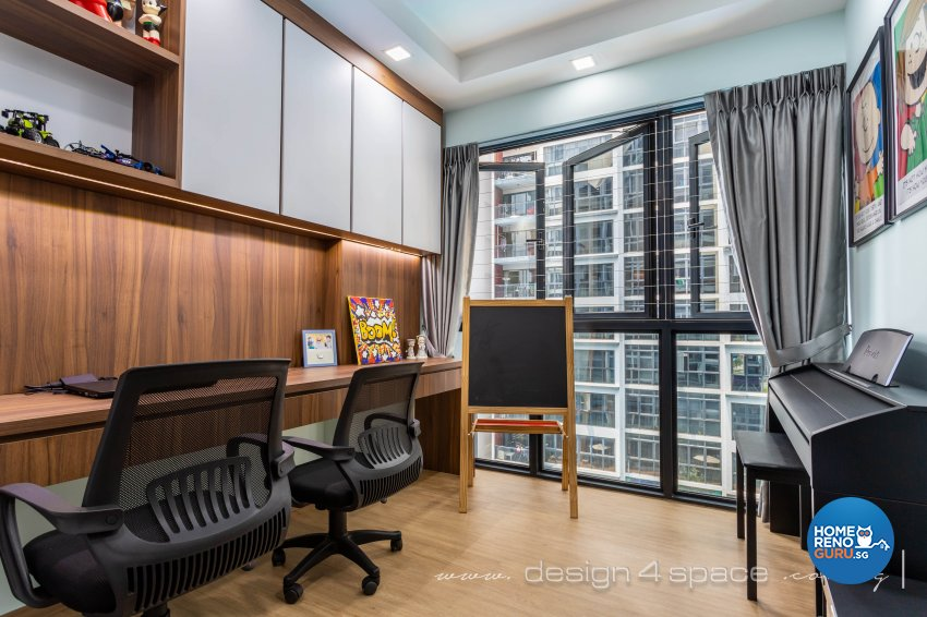 Contemporary Design - Study Room - Condominium - Design by Design 4 Space Pte Ltd