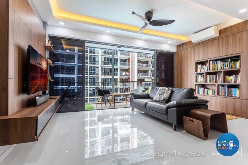 Contemporary Design - Living Room - Condominium - Design by Design 4 Space Pte Ltd