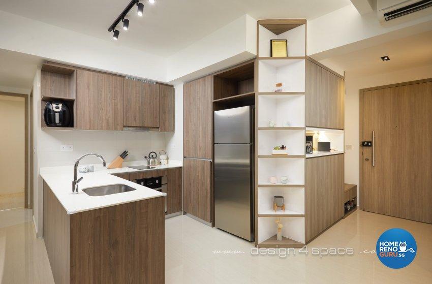 Modern Design - Kitchen - Condominium - Design by Design 4 Space Pte Ltd