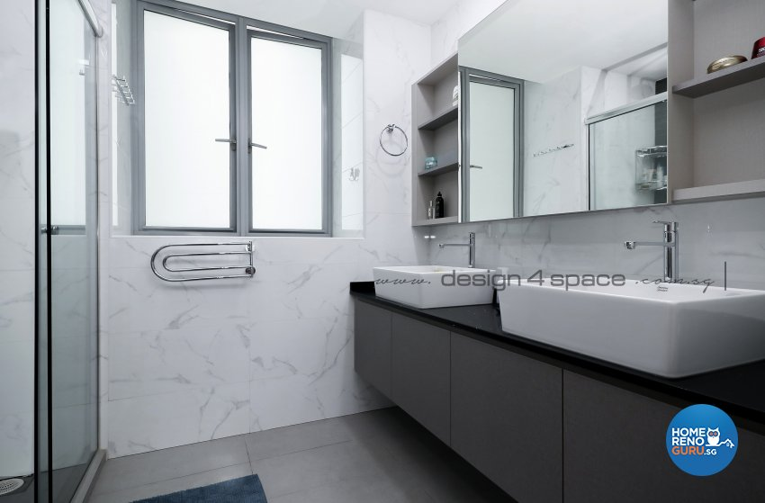 Contemporary Design - Bathroom - Condominium - Design by Design 4 Space Pte Ltd