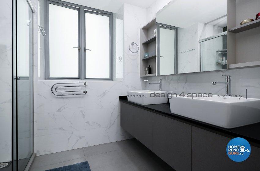 Contemporary Design - Bathroom - Condominium - Design by Design 4 Space Pte Ltd