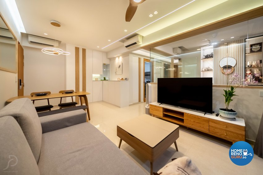 Contemporary, Scandinavian Design - Living Room - Condominium - Design by Design 4 Space Pte Ltd