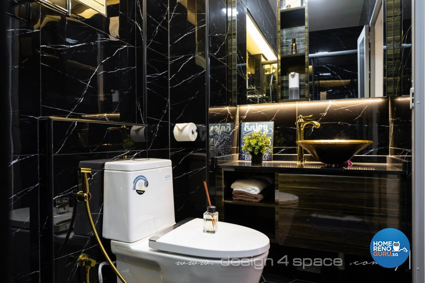 Contemporary, Modern Design - Bathroom - HDB Executive Apartment - Design by Design 4 Space Pte Ltd