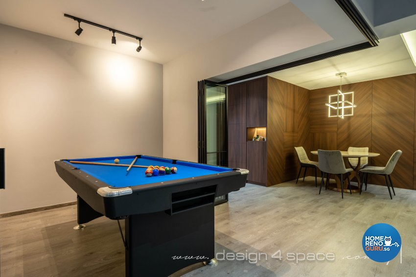 Contemporary, Modern Design - Entertainment Room - HDB Executive Apartment - Design by Design 4 Space Pte Ltd
