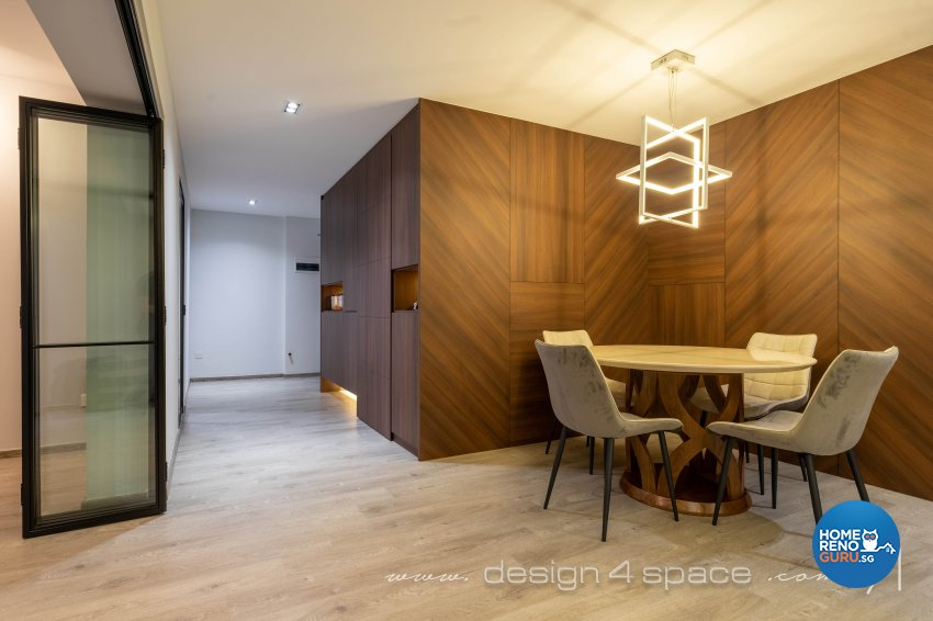Contemporary, Modern Design - Dining Room - HDB Executive Apartment - Design by Design 4 Space Pte Ltd