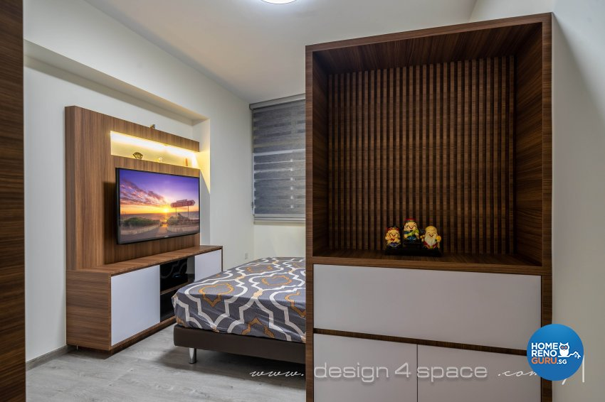 Contemporary, Modern Design - Bedroom - HDB Executive Apartment - Design by Design 4 Space Pte Ltd