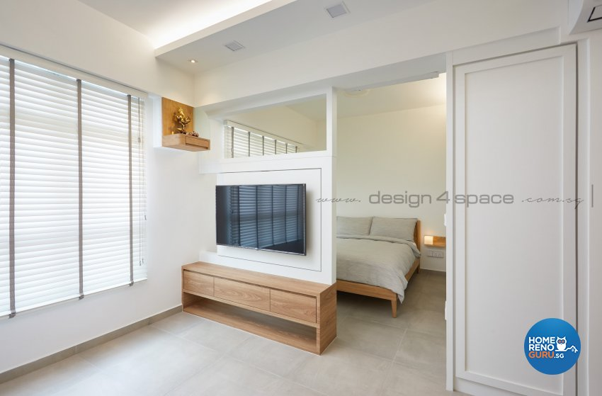 Contemporary Design - Living Room - HDB Studio Apartment - Design by Design 4 Space Pte Ltd