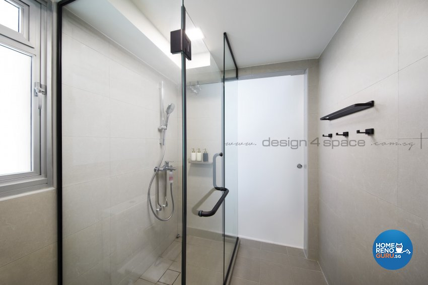 Contemporary Design - Bathroom - HDB Studio Apartment - Design by Design 4 Space Pte Ltd