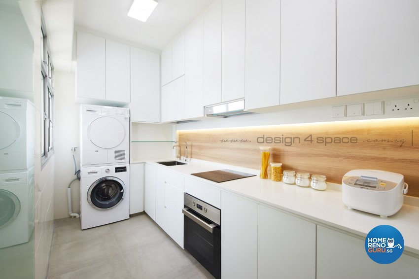 Contemporary Design - Kitchen - HDB Studio Apartment - Design by Design 4 Space Pte Ltd