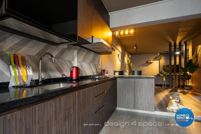 Contemporary Design - Kitchen - HDB 3 Room - Design by Design 4 Space Pte Ltd