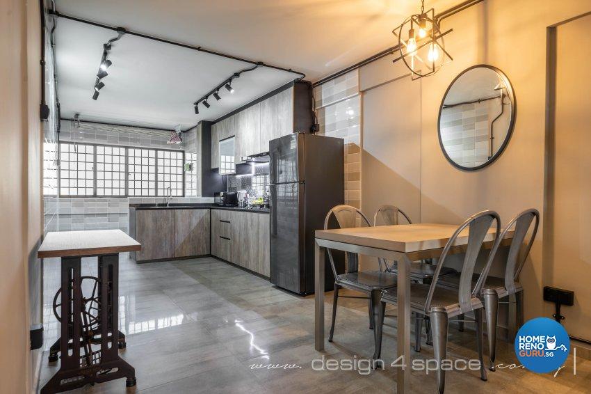 Retro Design - Living Room - HDB 3 Room - Design by Design 4 Space Pte Ltd