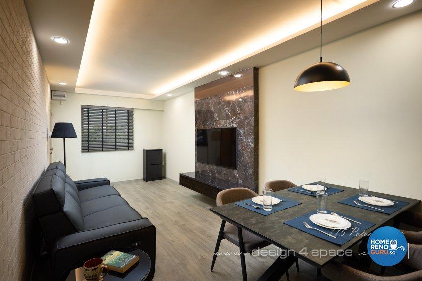 Contemporary Design - Living Room - HDB 3 Room - Design by Design 4 Space Pte Ltd