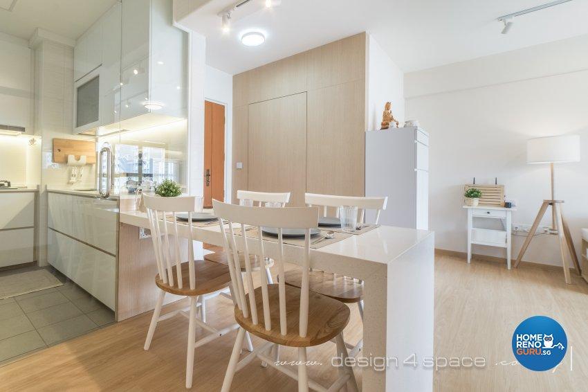Minimalist, Scandinavian Design - Dining Room - HDB 3 Room - Design by Design 4 Space Pte Ltd