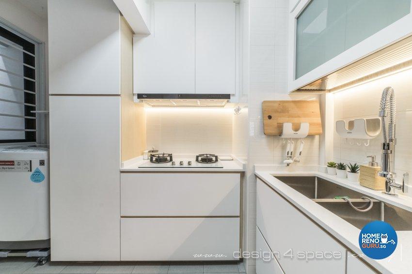 Minimalist, Scandinavian Design - Kitchen - HDB 3 Room - Design by Design 4 Space Pte Ltd
