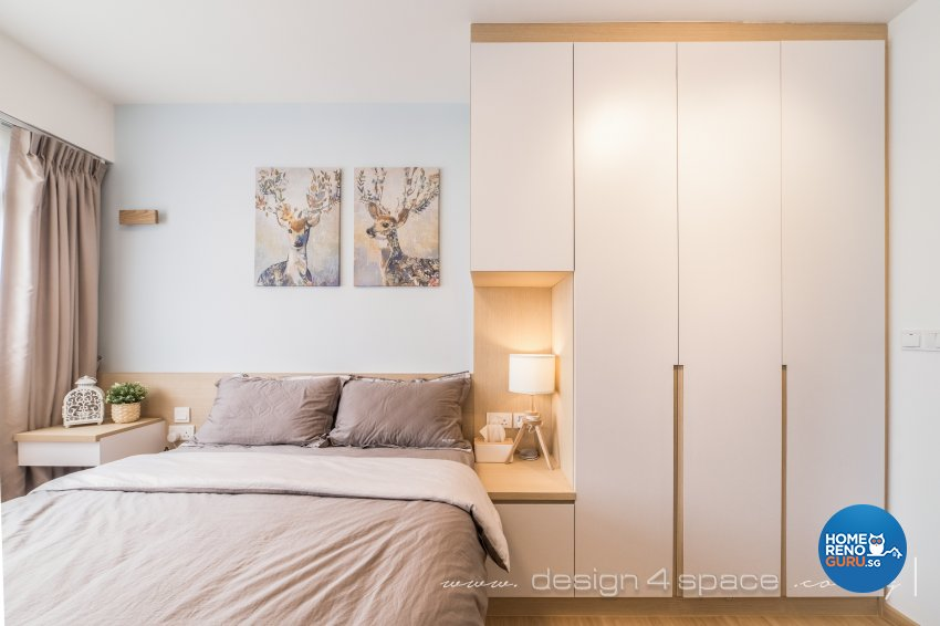 Minimalist, Scandinavian Design - Bedroom - HDB 3 Room - Design by Design 4 Space Pte Ltd
