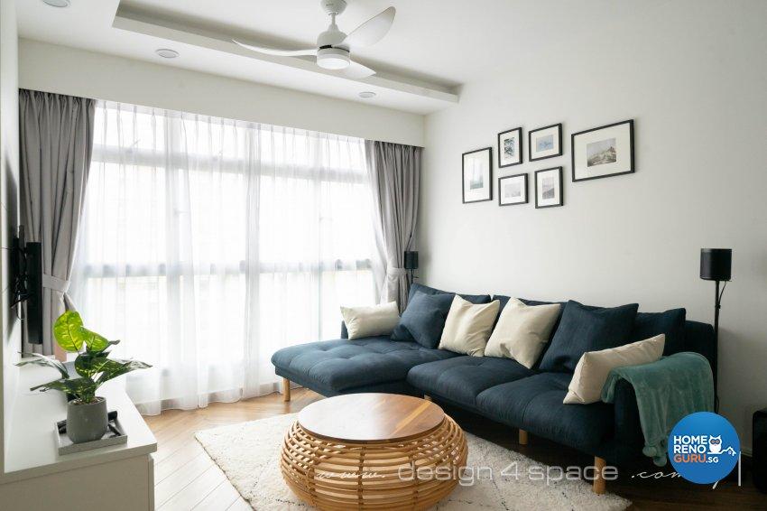 Contemporary, Modern Design - Living Room - HDB 3 Room - Design by Design 4 Space Pte Ltd