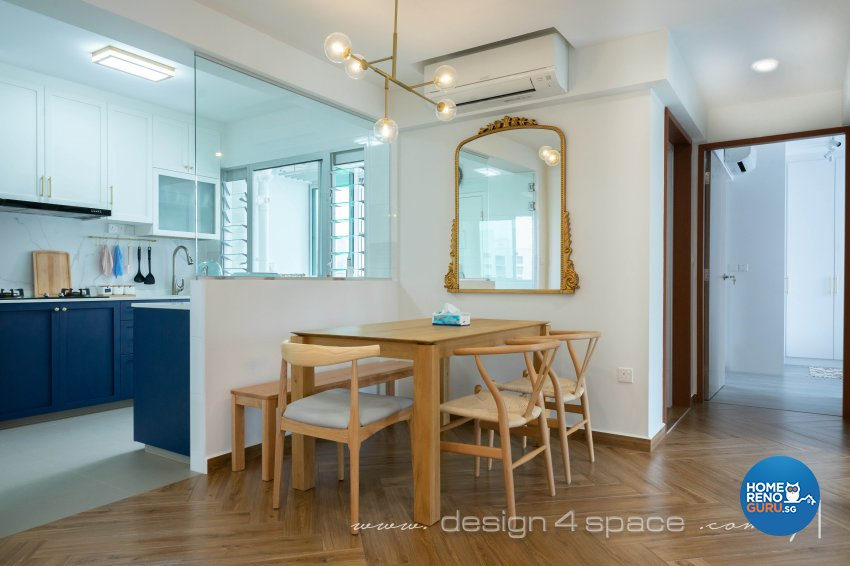 Contemporary, Modern Design - Dining Room - HDB 3 Room - Design by Design 4 Space Pte Ltd