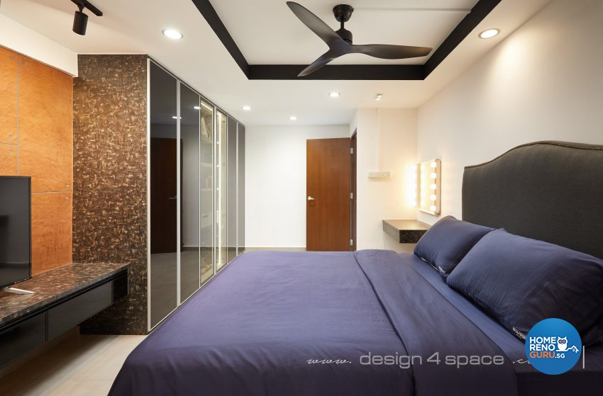 Industrial, Modern Design - Bedroom - HDB 3 Room - Design by Design 4 Space Pte Ltd