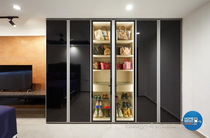 Industrial, Modern Design - Bedroom - HDB 3 Room - Design by Design 4 Space Pte Ltd