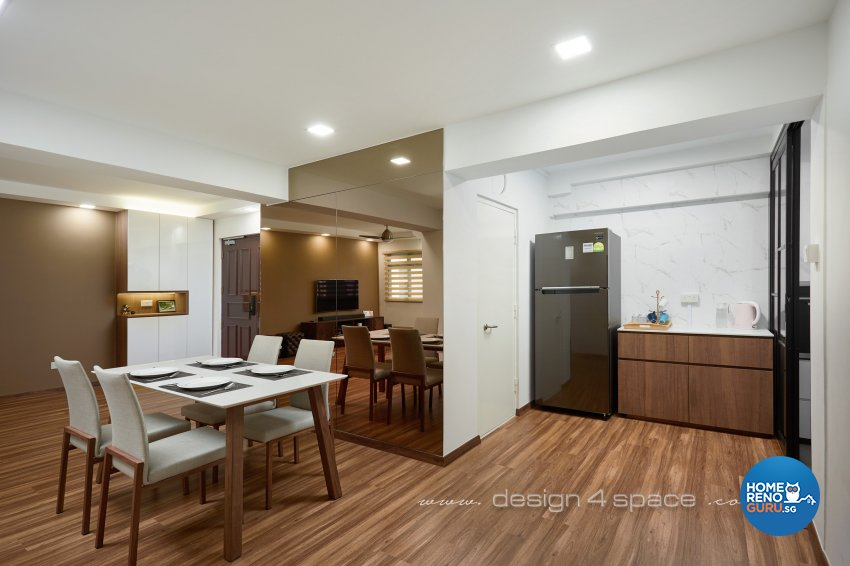 Minimalist, Others Design - Dining Room - HDB 3 Room - Design by Design 4 Space Pte Ltd