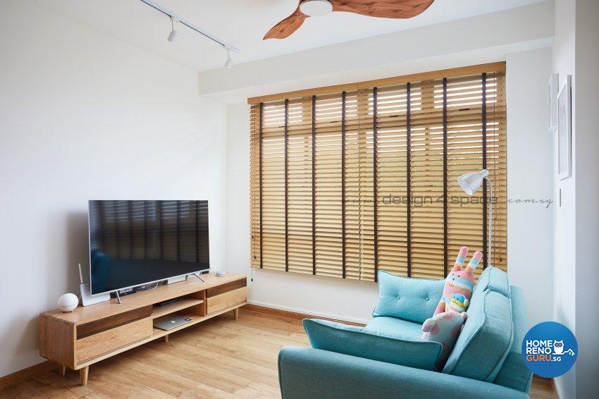 Minimalist, Modern Design - Living Room - HDB 3 Room - Design by Design 4 Space Pte Ltd