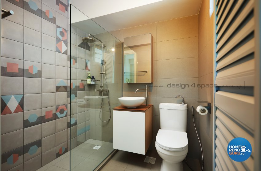 Minimalist, Modern Design - Bathroom - HDB 3 Room - Design by Design 4 Space Pte Ltd