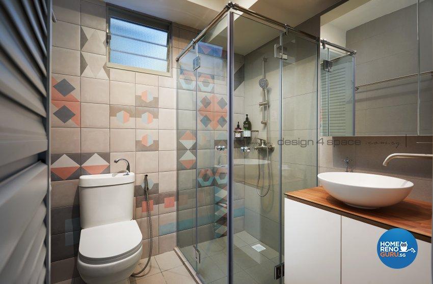 Minimalist, Modern Design - Bathroom - HDB 3 Room - Design by Design 4 Space Pte Ltd
