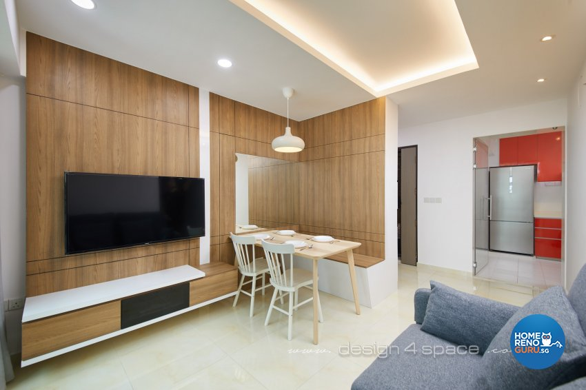 Contemporary Design - Living Room - HDB 3 Room - Design by Design 4 Space Pte Ltd