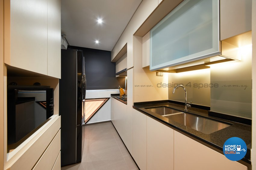 Contemporary Design - Kitchen - HDB 3 Room - Design by Design 4 Space Pte Ltd