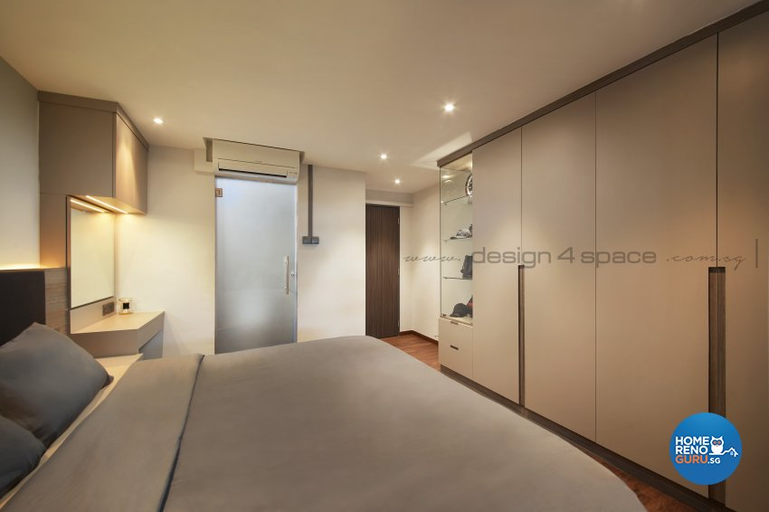 Contemporary Design - Bedroom - HDB 3 Room - Design by Design 4 Space Pte Ltd