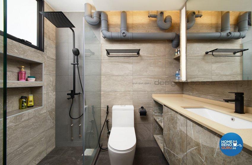 Contemporary Design - Bathroom - HDB 3 Room - Design by Design 4 Space Pte Ltd