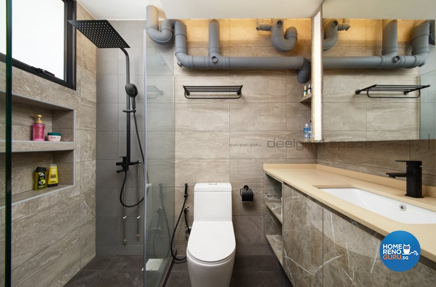 Contemporary Design - Bathroom - HDB 3 Room - Design by Design 4 Space Pte Ltd