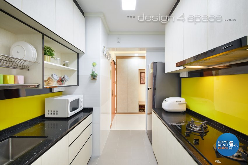 Contemporary, Modern Design - Kitchen - HDB 3 Room - Design by Design 4 Space Pte Ltd